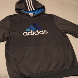 Boys Adidas Hoodie Sweater gray blue Med M